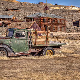 Ghost Truck in a Ghost Town by Jay Fite - Transportation Automobiles ( old truck bodie ca. )