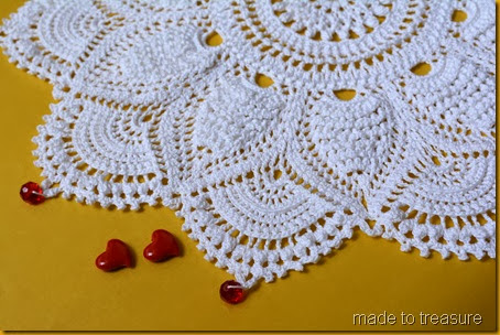 ultimate doily with bead edging