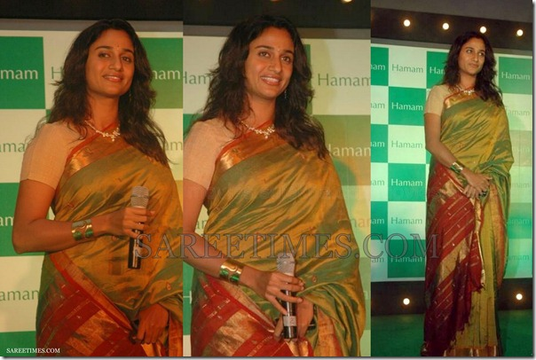Anu_Hassan_Green_Silk_Saree