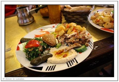 Mezze Platter Lebanese Mezze Stables Market Camden