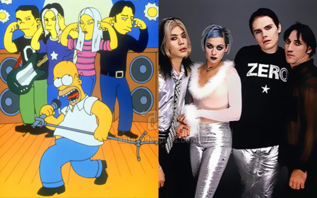 Foto de la version Simpson de Smashing Pumpkins