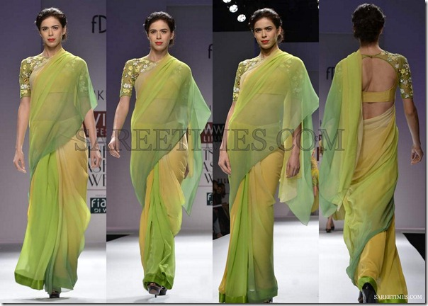 Nachiket_Barve_Green_Yellow_Saree