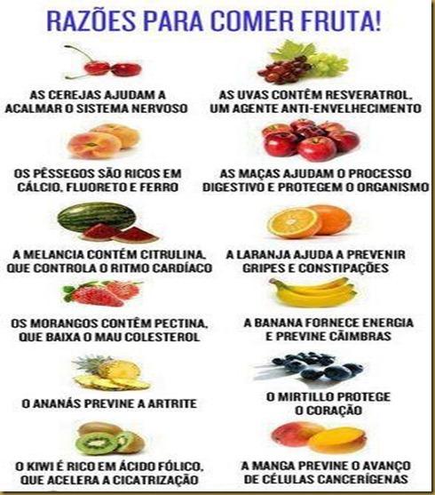 razões para comer frutas.