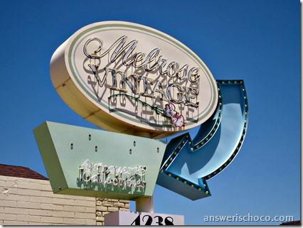 Melrose Vintage Sign