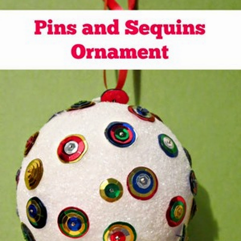 Pins and Sequins Christmas Ornament