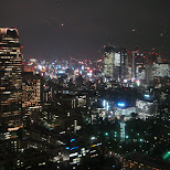 amazing view at night from tokyo tower in Tokyo, Tokyo, Japan