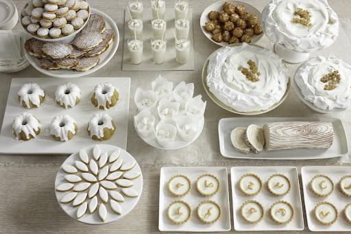 The image that inspired Rosma and David's dessert buffet, from our Twist on Tradition story (http://www.marthastewartweddings.com/230773/twists-wedding-traditions/@center/285523/wedding-themes#153999)