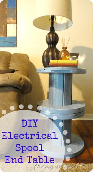 DIY Electrical Spool End Table