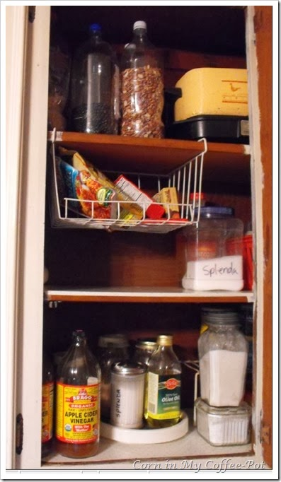 Finding Pantry Space middle cupboard