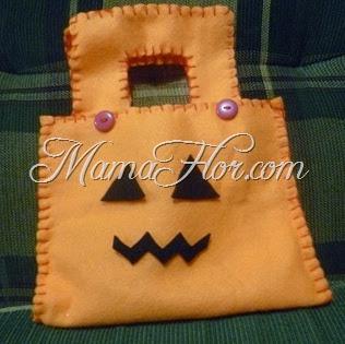 Como hacer una Calabaza y bolso para Halloween