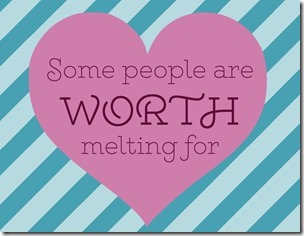 """Some people are worth melting for"" Disney's Frozen Young Women Valentines Free Download"