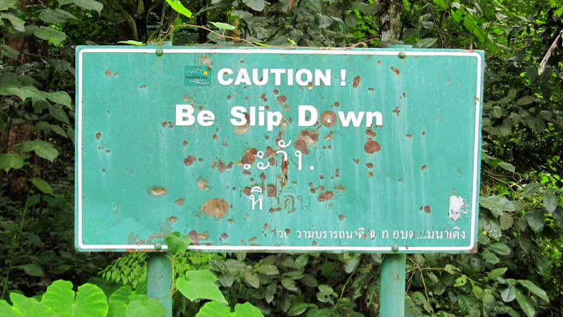 Caution! Be slip down!