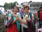 Ice Cream is well deserved in Windsor after a walk along the Thames Path from Maidenhead