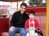 Mike and Kai on the Jolly Trolly