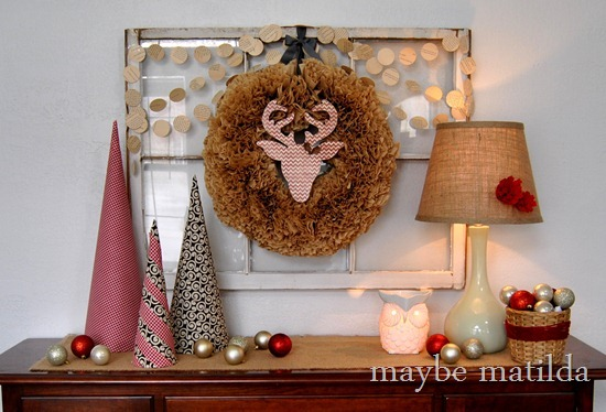 A DIY Woodsy Christmas Vignette by Maybe Matilda
