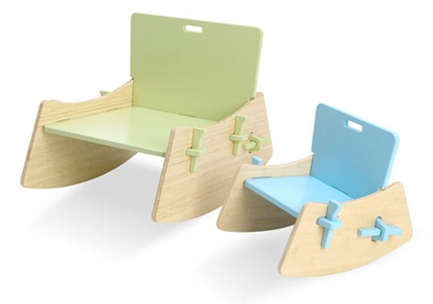 Kids' celery chair