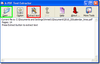 A-PDF Text Extractor