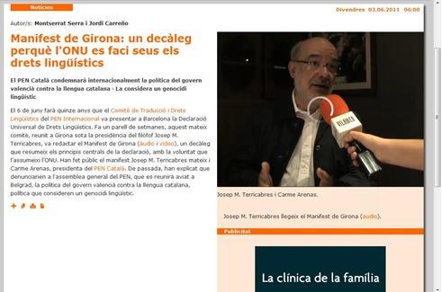Josep M.Terricabres Vilaweb 030611