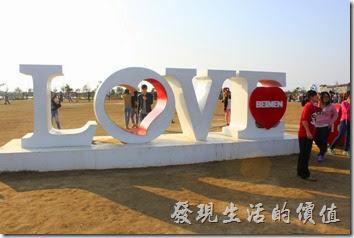 台南-北門遊客中心。婚紗美地園區的藝術景觀之一。