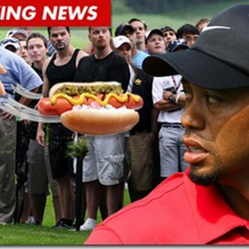 Tiger Woods Almost Killed By 200 Pound Hot Dog Wielding Attacker - Video
