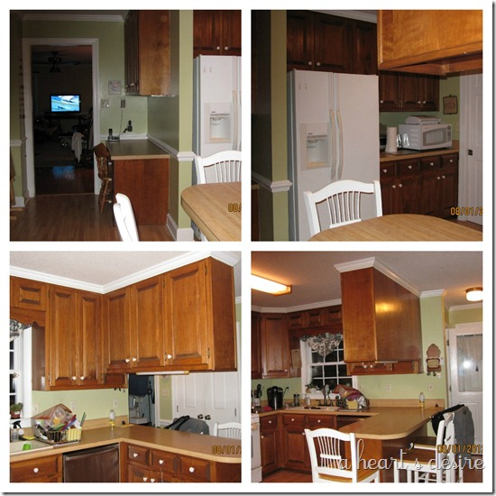 kitchen Before collage