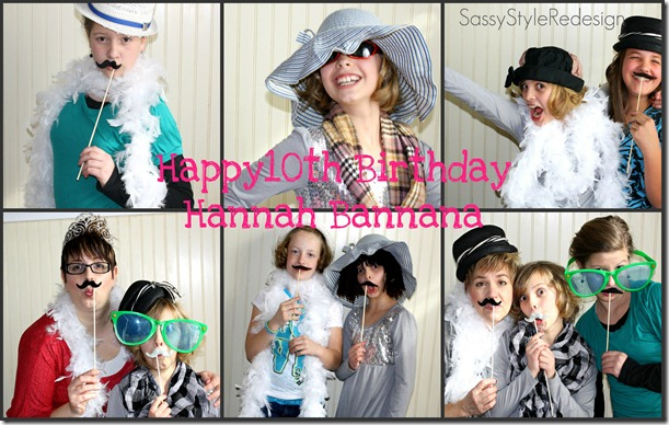 hannah party collage