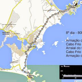 8º dia cicloviagem Colatina-ES a Arraial do Cabo-RJ