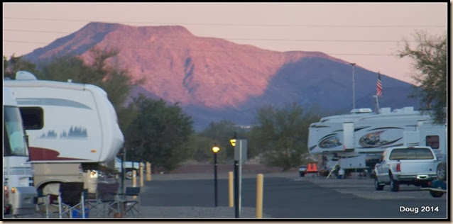 Looking east from RV park in evening
