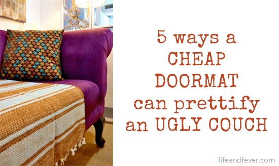 DIY doormat on couch