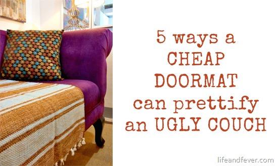 DIY doormat on couch