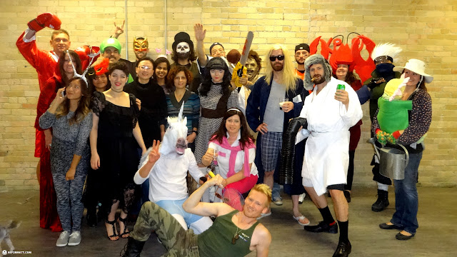 halloween potluck at Climax Media in Toronto, Ontario, Canada