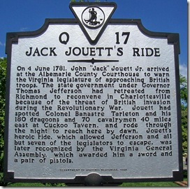 Jack Jouett's Ride - Q-17 in Charlottesville, VA (Click any photo to enlarge)