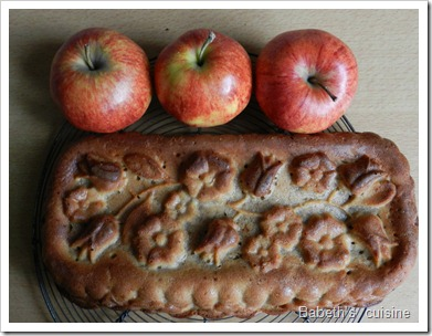 gateau à la compote de pommes