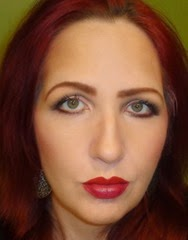 look with Marc Jacobs Le Marc Lip Creme in Rei of Light and Magenta