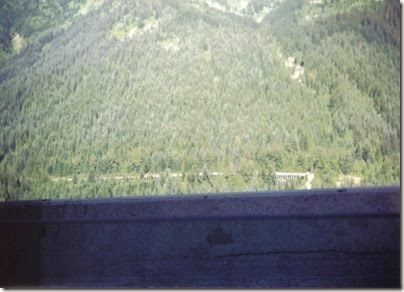 View of Concrete Snowshed on the Iron Goat Trail from Highway 2 Viewpoint in 1994