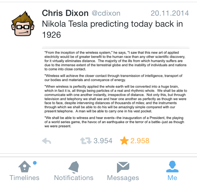 Twitter on iPhone with text screenshot