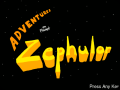 adventures on Planet Zephulor start