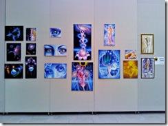 Tablouri de vis de Corina Chirila la Palatul Parlamentului expozitie in sala Constantin Brancusi