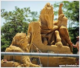 Бургас. Фестиваль песчаных скульптур