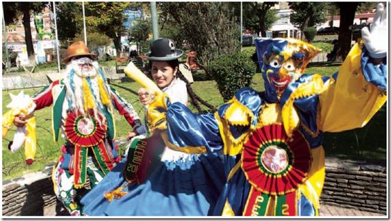 Cholitas de fiesta
