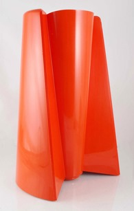 Orange Pago Pago vase by Enzo Mari for Danese, Italy (1969)