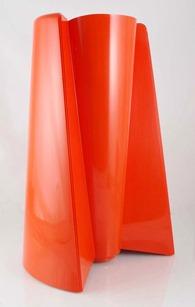 Orange Pago Pago vase by Enzo Mari for Danese, Italy (1969)