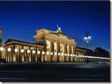 Muro di luci a Berlino
