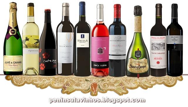 barra inferior com vinhos