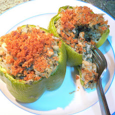 Anne Fischer's Crock-Pot Stuffed Peppers (Meatless Version)