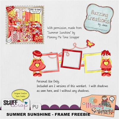 Mommy Me Time Scrapper - Summer Sunshine - Frame Freebie Preview