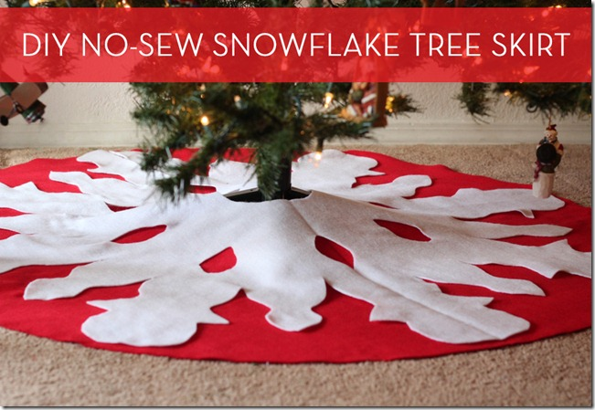 No Sew Tree Snowflake Tree Skirt