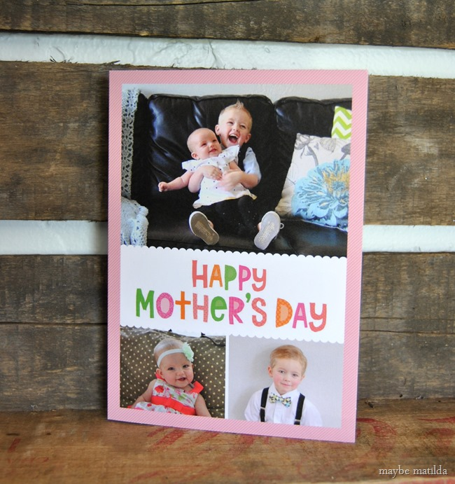 Adorable personalized mother's day card!