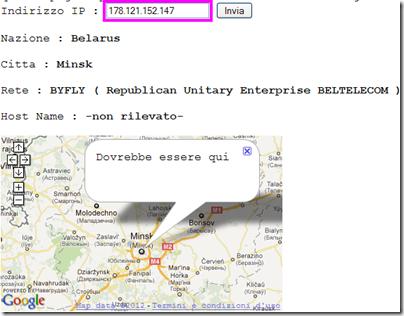 IP email mittente localizzato