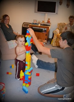Building a tower with Jaxon